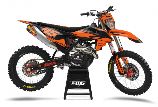 KTM Volta Black Orange Graphics Kit