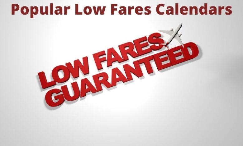 low fare calendars deals