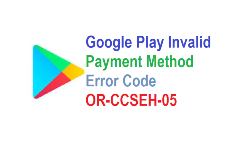 Fix the or-ieh-01 Google payment error in 2 minutes