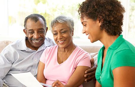 young adults managing parents financial affairs