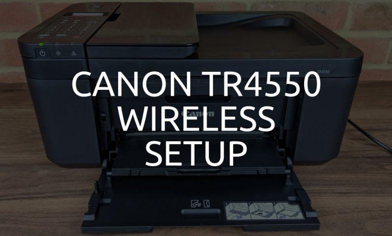 how to setup canon tr4500 printer