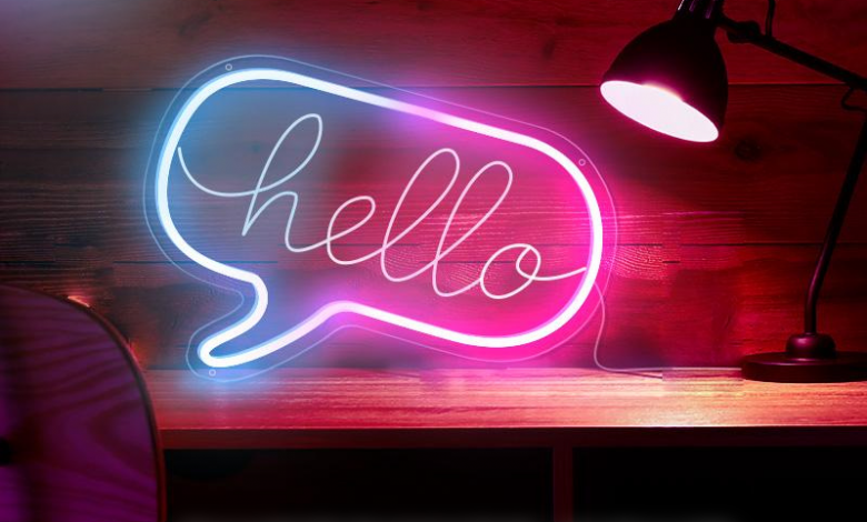 personalised neon signs